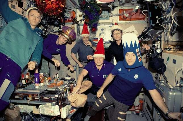 Le soir du 31 décembre à bord de l'ISS.