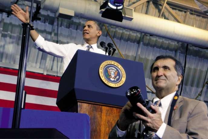 Pete Souza, alors photographe officielde Barack Obama àLargo (Maryland) le 15 mars 2012.