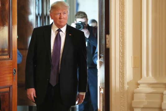 Pendant sa campagne, Donald Trump – ici le 13 février 2017 à la Maison Blanche– s'était clairement affiché pro-israélien.