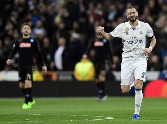 L'attaquant du Real Madrid Karim Benzema lors de la rencontre contre Naples en Ligue des champions, le 15 février.
