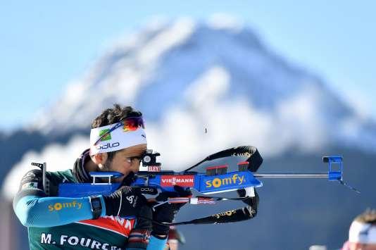 Martin Fourcade, le 15 février, à Hochfilzen, en Autriche.