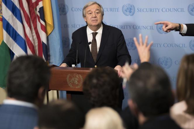 Antonio Guterres, le nouveausecrétaire général de l'ONU, le 1er février.