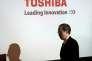 Le président de Toshiba, Satoshi Tsunakawa, à Tokyo, mardi 14février.