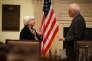 La présidente de la Fed et Daniel Tarullo, gouverneur démissionnaire de l'institution, le 18 décembre 2016, à Washington.