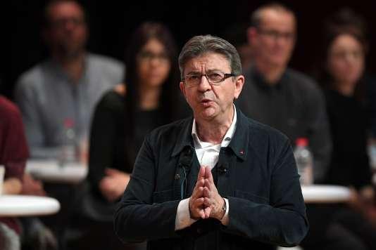 Le candidat de La France insoumise à la présidentielle de 2017, Jean-Luc Mélenchon, le 15 février à Strasbourg.