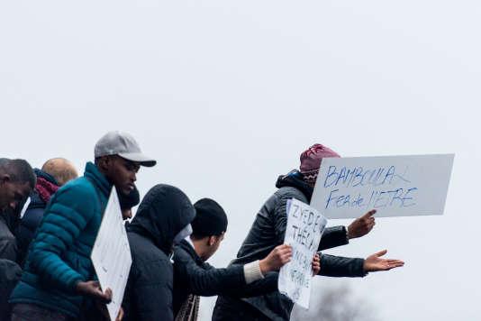 Manifestation à Bobigny, le 11 février, en soutien à Théo L., victime d'un viol présumé lors d'une intervention de police le 2 février.