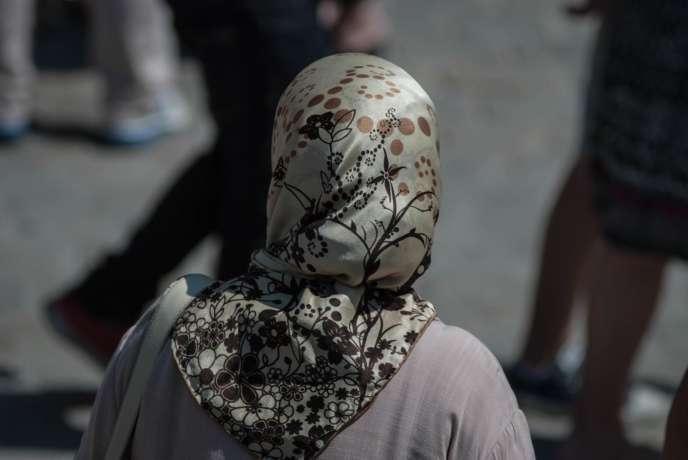 Femme portant un hijab, en 2013.