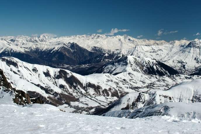 Le glacier de Saint-Sorlin dans les Alpes.
