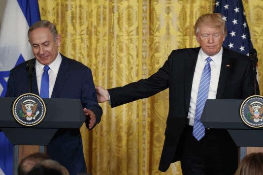 Donald Trump et Benyamin Nétanyahou lors de leur conférence de presse commune à la Maison Blanche, le 15 février à Washington.