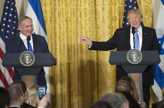 Le président américain Donald Trump et le premier ministre israélien Benjamin Nétanyahou à Washington le 15 février.