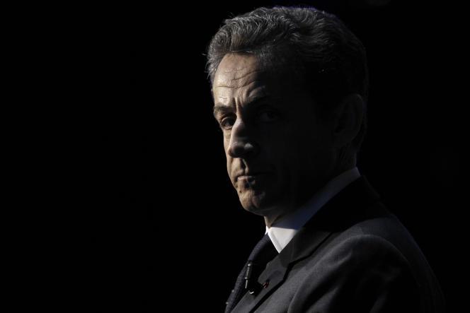 Nicolas Sarkozy à Paris le 10 avril 2012.