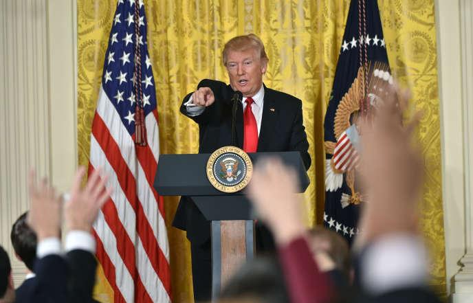 Conférence de presse de Donald Trump, à la Maison Blanche, le 16 février.