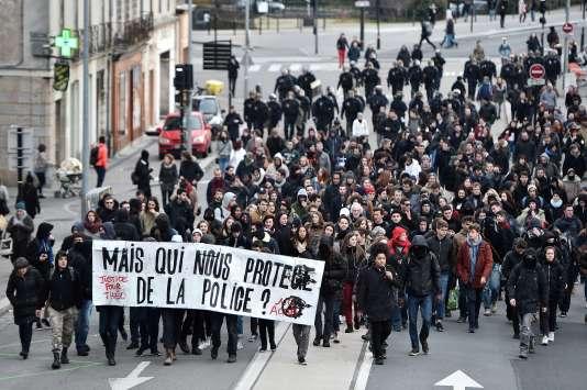 Manifestation à Nantes, le 11 février.