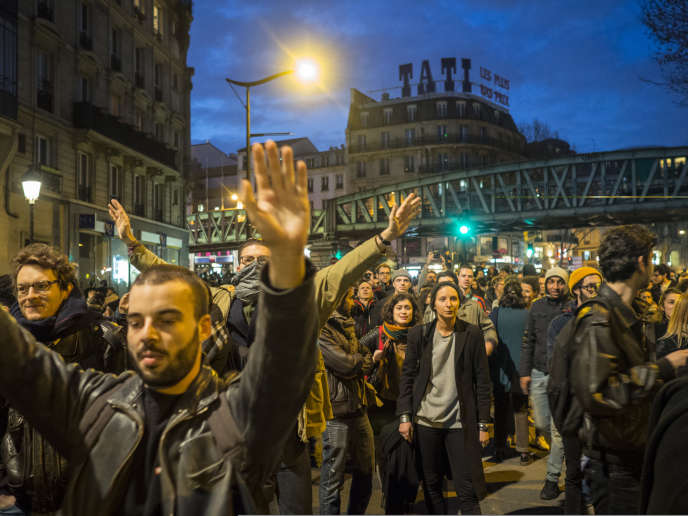 Rassemblement de soutien à Théo L., à Paris, le 15 février.
