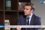 Emmanuel Macron lors d'un entretien à la télévision privée algérienne Echourouk, mercredi 15 février.