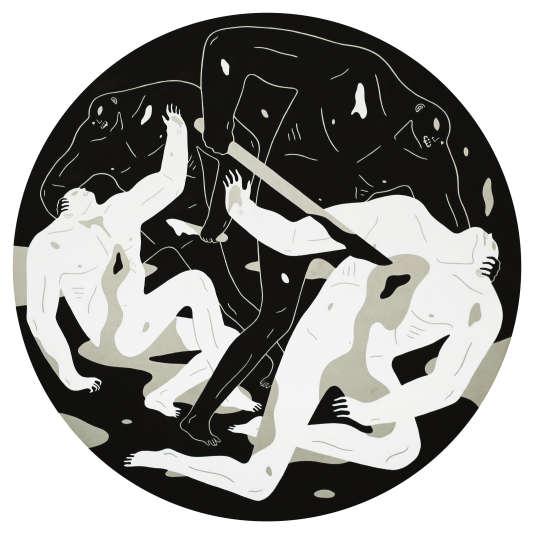 «This is a Darkness», acrylique sur toile (triptyque), de Cleon Peterson.