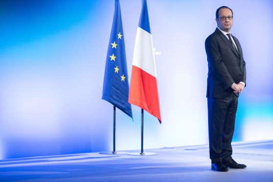 François Hollande, à Rennes, le 16 février.