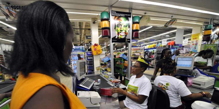 Dans un supermarché à Abidjan, en2014.