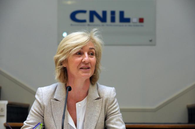 Isabelle Falque-Pierrotin, présidente de la Commission nationale informatique et libertés, le 16 avril 2016.