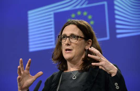 La commissaire européenne au commerce, Cecilia Malmström, en novembre 2016 à Bruxelles.