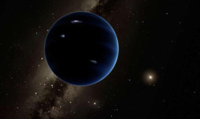 Vue d'artiste de ce à quoi pourrait ressembler la neuvième planète du Système solaire.