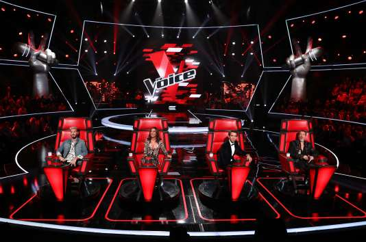 Le jury de la saison 6 de «The Voice». De gauche à droite :Matt Pokora, Zazie, Mika et Florent Pagny.