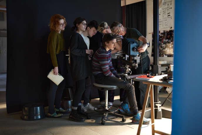 Stage de chambre au studio de l'Ecole Nationale Supérieure de la Photographie d'Arles en février 2017.