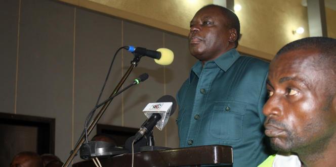 Marcel Ntsourou, en 2014 à Brazzaville.