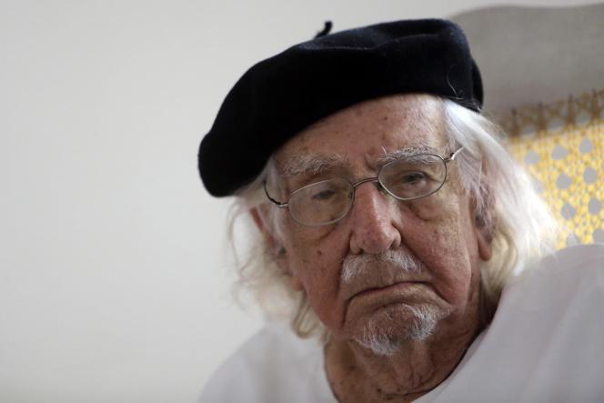 Le poète nicaraguayenErnesto Cardenal, le 16 février 2017.