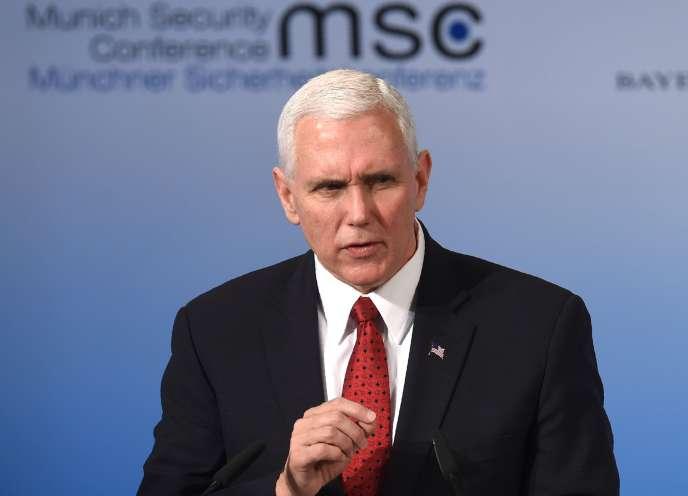 Mike Pence, vice-président des Etats-Unis, prononce un discours lors de la 53eConférence de Munich sur la sécurité, en Allemagne, le 18 février.