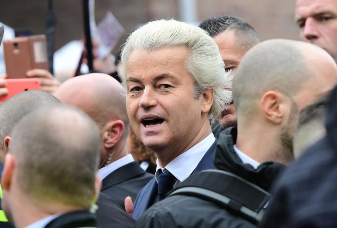 Le député néerlandais d'extrême droite et anti-islam Geert Wilders a lancé samedi 18février sa campagne pour les législatives.