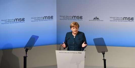 La chancelière allemande, Angela Merkel, lors de la 53e conférence sur la sécurité à Munich, le 18 février 2017.
