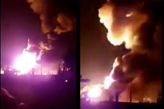 L'incendie s'est déclaré près de l'entreprise Sciacqua, à Jonquières, le 17 février 2017.