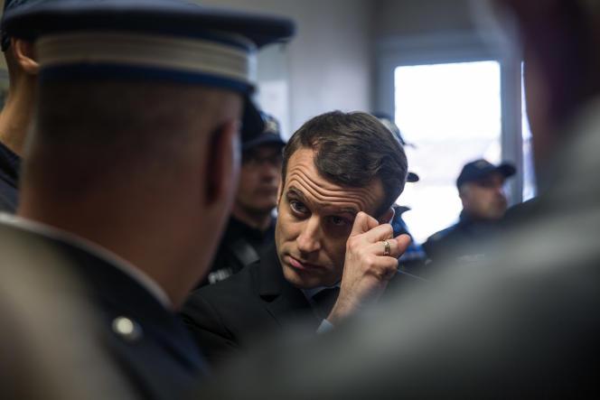 Emmanuel Macron à Carpentras le 17 février.