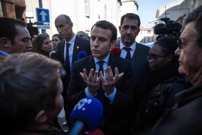 Emmanuel Macron, à Carpentras (Vaucluse), le 17 février 2017.