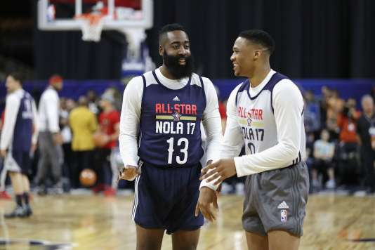 James Harden et Russell Westbrook, les deux meilleurs joueurs de la première partie de saison, seront face à face dimanche soir à La Nouvelle-Orléans.