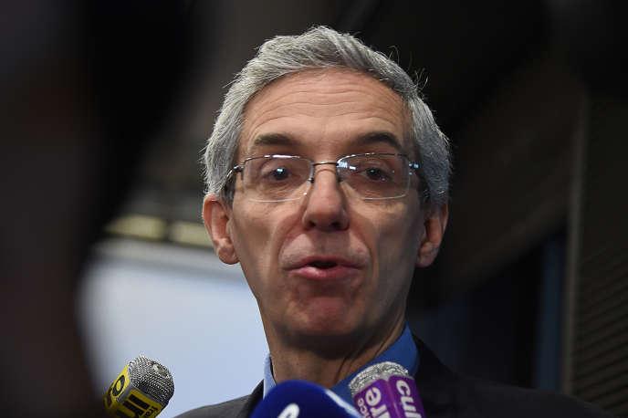 Alexandre Saubot – ici, le 22 janvier 2015– est le négociateur du Medef pour l'assurance-chômage.