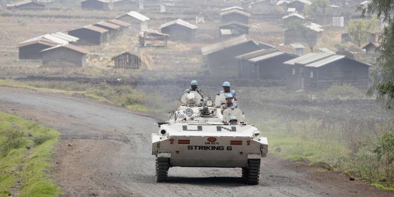 Une patrouille de la Mission des Nations unies au Congo (Monusco) dans les environs de Goma en août 2013.