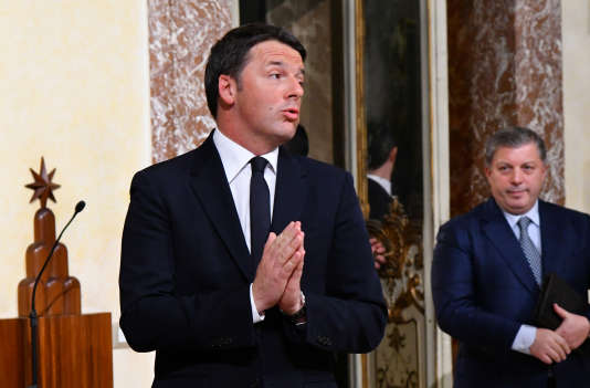 L'ancien chef du gouvernement italien Matteo Renzi, le 12 décembre 2016, à Rome, en Italie.