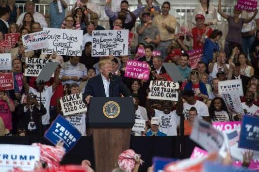 Donald Trump était en samedi en meeting à Melbourne, en Floride.