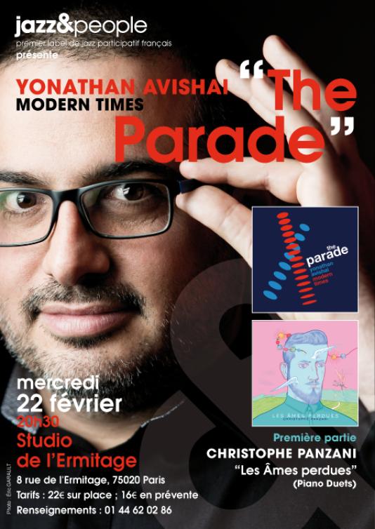 Affiche de la soirée du label Jazz & People au Studio de l'Ermitage.