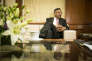 Natarajan Chandrasekaran, alors pdg de Tata Consultancy Services, lors d'une interview à Bombay, le 10 juillet 2015.