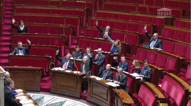 Vote de la réforme de la prescription à l'Assemblée nationale, le 16 février.