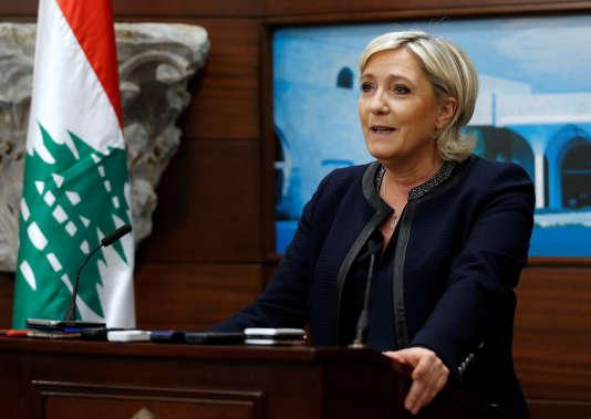 Marine Le Pen, à Baabda, au Liban, le 20 février.