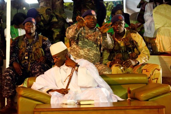 Yahya Jammeh à Banjul, le 29 novembre 2016.