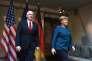 Mike Pence, le vice président américain, et Angela Merkel lors la conférence sur la sécurité de Munich, le 18 février.