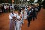 Une cérémonie du souvenir du génocide, à Kigali, capitale du Rwanda, le 5 avril 2014.