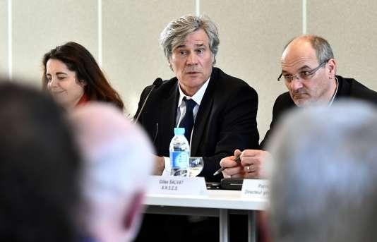 Le ministre de l'agriculture, Stéphane Le Foll, lors d'une conférence de presse, à Mont-de-Marsan, le 21 février.