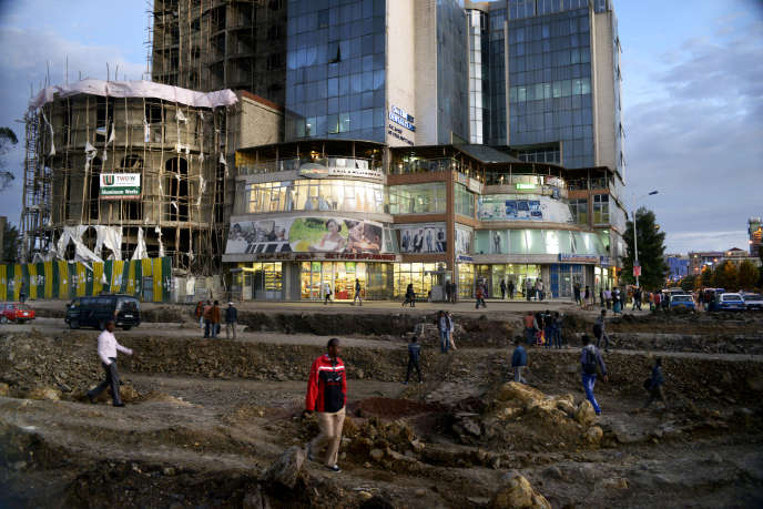 Dans le centre d'Addis-Abeba, en avril 2014.
