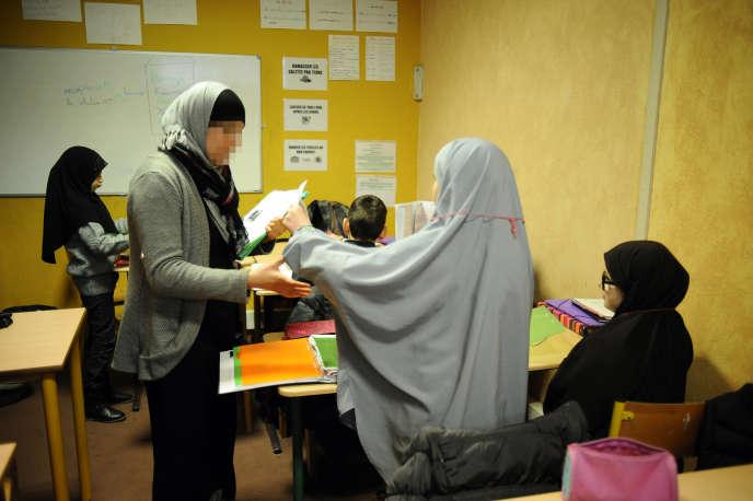 A l'école musulmane Al-Badr, à Toulouse, le 23 janvier 2014.